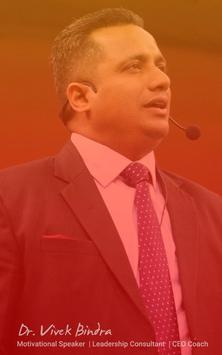 App For Dr Vivek Bindra Motivational speaker poster