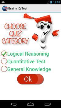 Brainy IQ Test apk screenshot