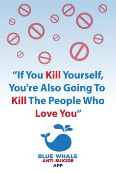 Bluewhale Antisuicide App poster