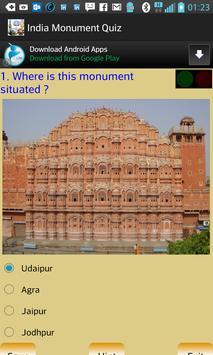 India Monument Quiz poster