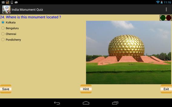 India Monument Quiz apk screenshot