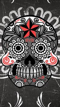 Mexican Skulls water effect poster