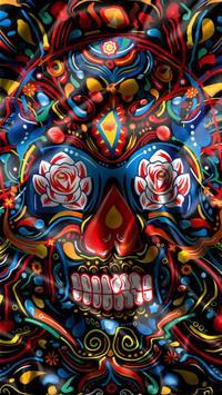 Mexican Skulls water effect apk screenshot