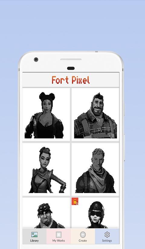 Pixel Art Fortnite Malen Nach Zahlen Für Android Apk Herunterladen