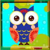 Cute Owls Coloring Book icon