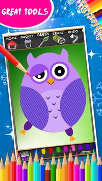 Cute Owls Coloring Book screenshot 4