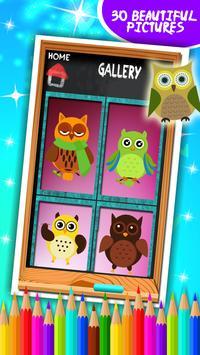 Cute Owls Coloring Book screenshot 7