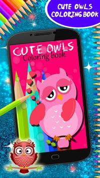 Cute Owls Coloring Book screenshot 8