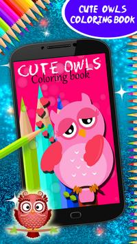 Cute Owls Coloring Book poster