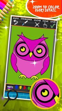 Cute Owls Coloring Book screenshot 11