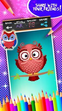Cute Owls Coloring Book screenshot 14
