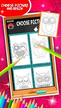 Cute Owls Coloring Book screenshot 2