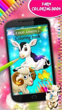 Farm Animals Coloring Book poster