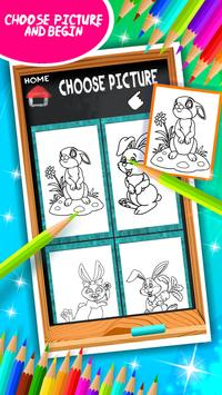 Sweet Bunny Coloring Book screenshot 2