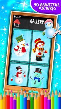 Snowman Coloring Book screenshot 15
