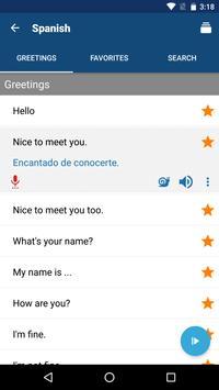 Learn Spanish Phrases   Spanish Translator screenshot 1