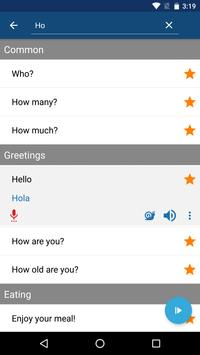 Learn Spanish Phrases | Spanish Translator apk screenshot