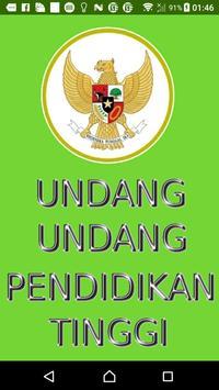 Undang-undang Pendidikan Tinggi poster