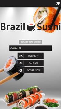 Brazil Sushi poster