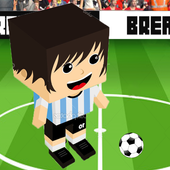 Soccer Blocky Ball Juggling icon