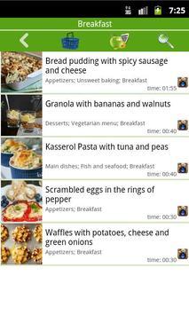 Breakfast recipes screenshot 1
