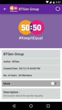 50:50 - #KeepItEqual apk screenshot