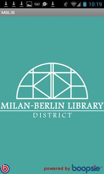 Milan-Berlin Library District poster