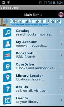 Buckham Library 2Go! poster