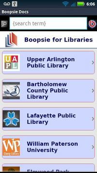 Boopsie for Libraries poster
