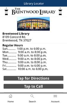 John P. Holt Brentwood Library apk screenshot