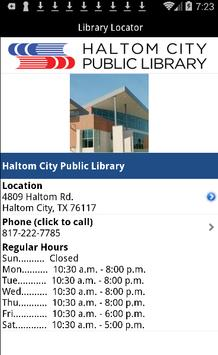 Haltom City Public Library apk screenshot