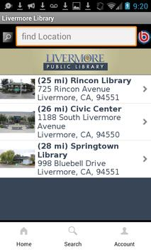 Livermore Public Library apk screenshot