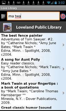 Loveland Public Library apk screenshot
