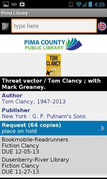 Pima County Public Library screenshot 2