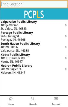 Porter County Library System apk screenshot