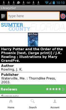 SumterFL Library2Go! apk screenshot
