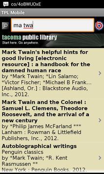 TPL Mobile screenshot 1