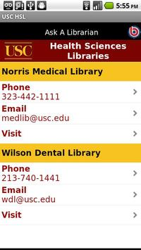 USC Health Sciences Libraries screenshot 3