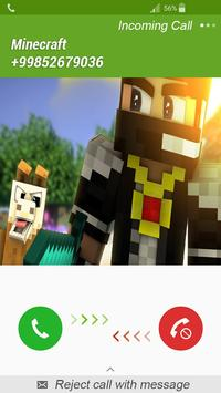 Fake Call Minecraft poster