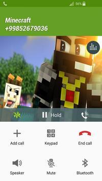 Fake Call Minecraft screenshot 1
