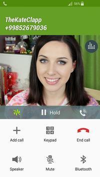 Fake Call TheKateClapp apk screenshot