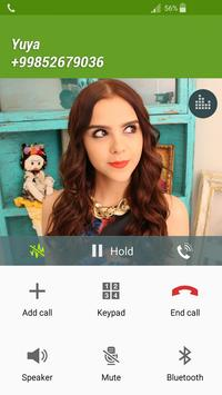 Fake Call yuya apk screenshot