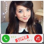 Fake Call Zoella icon