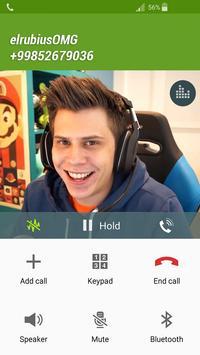 Fake Call elrubiusOMG apk screenshot
