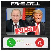 Fake call Putin and Trump icon