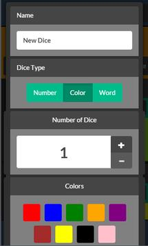 No Dice (Dice Spinner) apk screenshot
