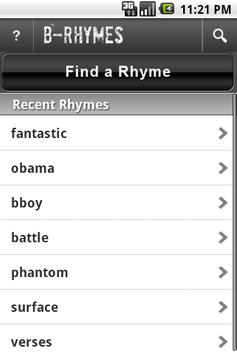 B-Rhymes Dictionary poster