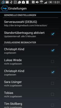 BringMeBack Smartphone Tracker apk screenshot