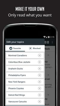 Sportfusion - NHL News Edition screenshot 1