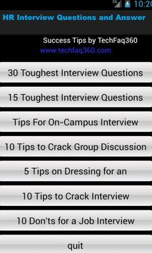 HR Interview Questions & Ans poster